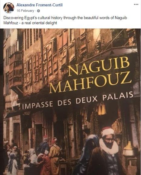ألكسندر فرومان يكتب عبر حسابه الشخصي على فيسبوك للتعبير عن حبه لمصر