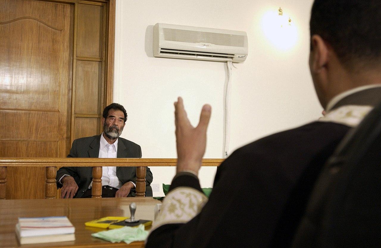 جانب من محاكمة صدام حسين