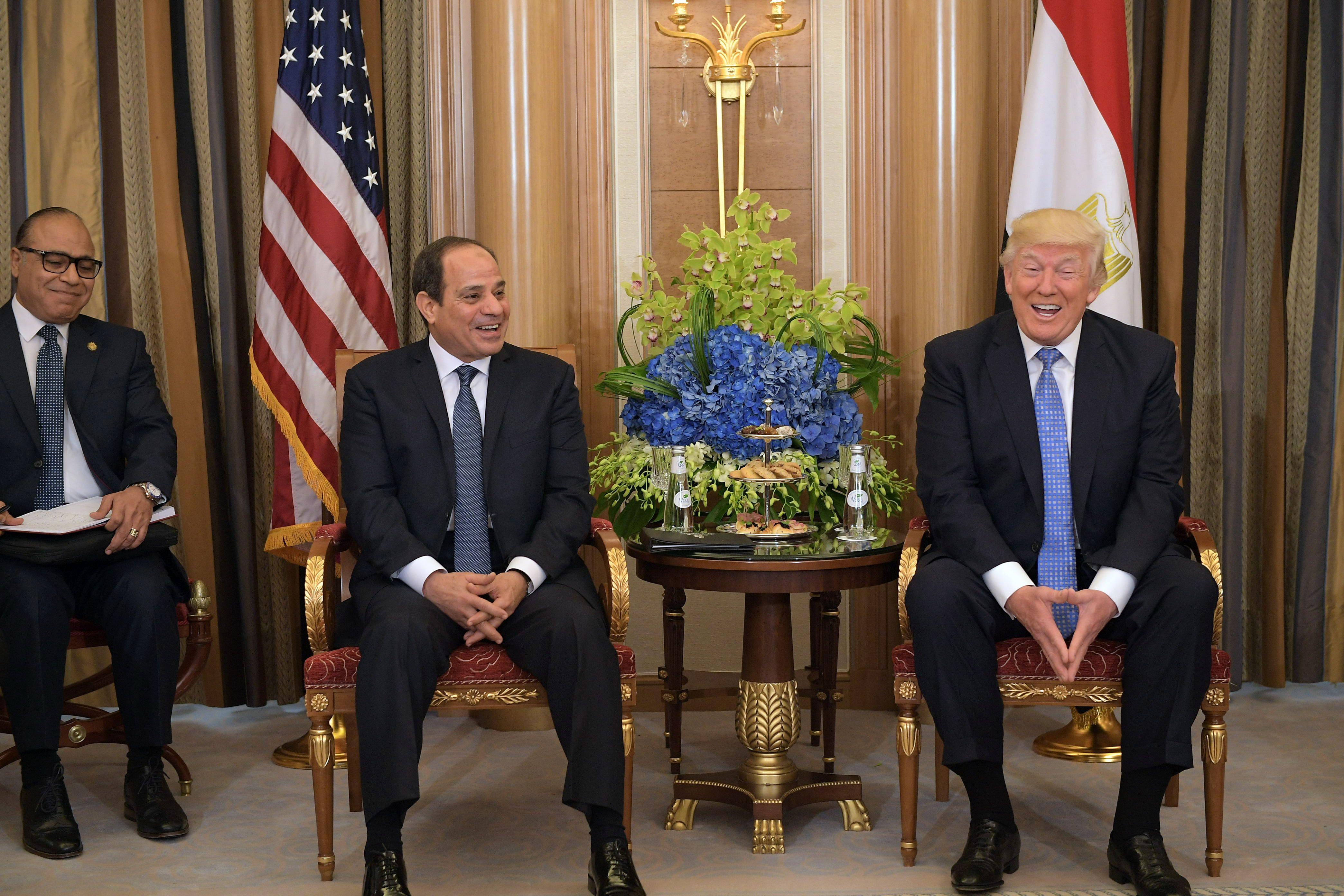 لقاء الرئيس السيسى ودونالد ترامب