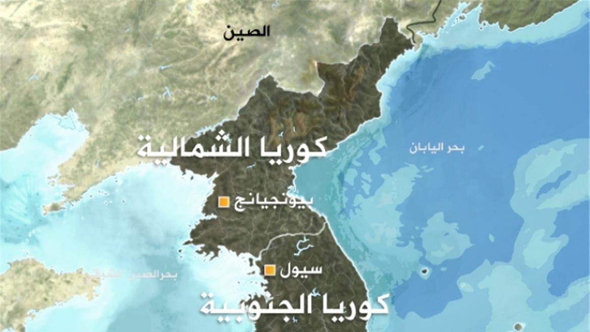 خريطة شبه الجزيرة الكورية