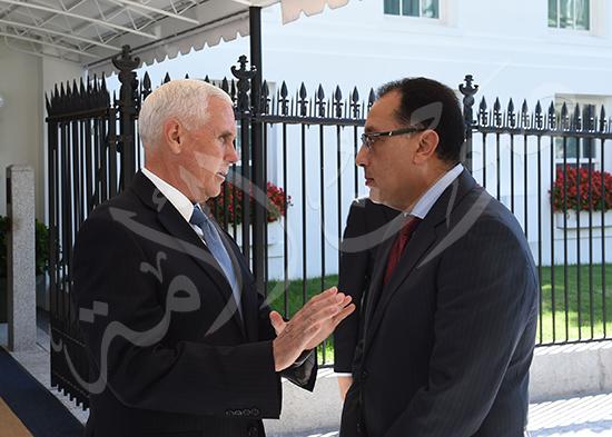 مصطفى مدبولى رئيس الوزراء مع مايك بنس نائب الرئيس الأمريكى (9)