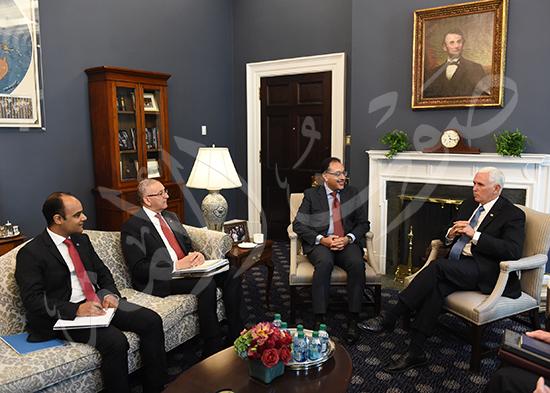 مصطفى مدبولى رئيس الوزراء مع مايك بنس نائب الرئيس الأمريكى (7)