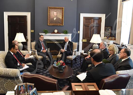 مصطفى مدبولى رئيس الوزراء مع مايك بنس نائب الرئيس الأمريكى (8)