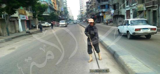 جفاف الشوارع فى بعض المناطق
