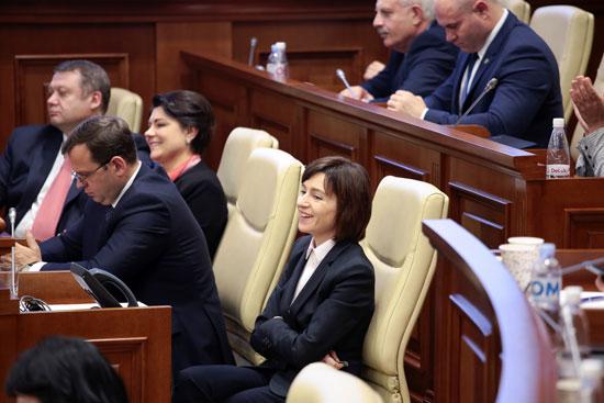 جانب من جلسة برلمان مولدوفا