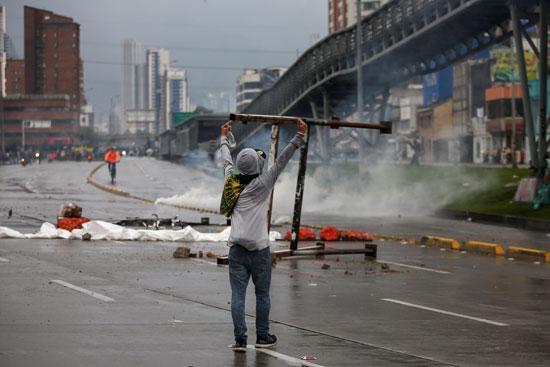 احتجاجات فى كولومبيا