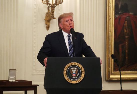 ترامب خلال كلمته