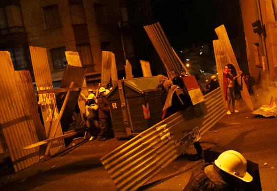 الفوضى تجتاح الشوارع فى بوليفيا