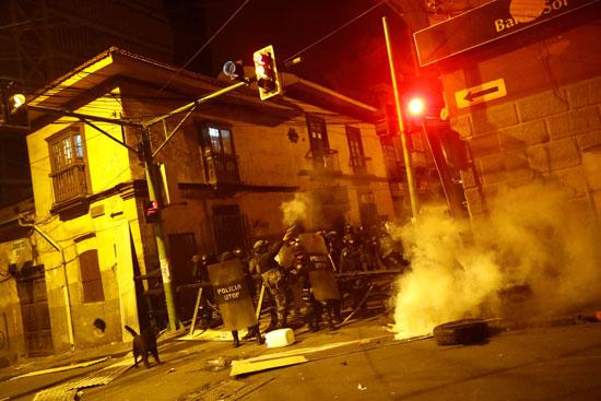 العاصمة البوليفية تتحول إلى حرب شوارع