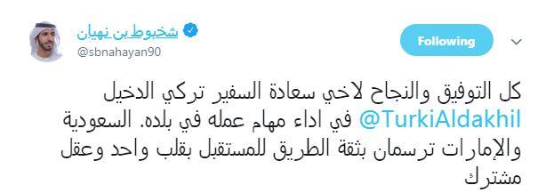 سفير الامارات في السعودية