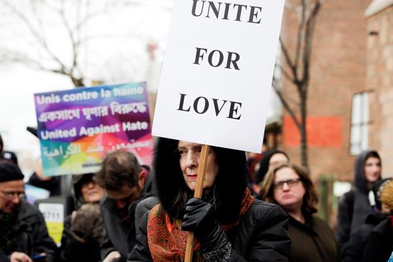مسيرة فى كندا تضامنا مع ضحايا هجوم المسجدين  (7)