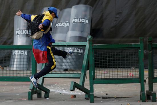 جانب من الاحتجاجات والعنف فى كولومبيا (8)