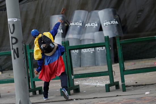 جانب من الاحتجاجات والعنف فى كولومبيا (10)