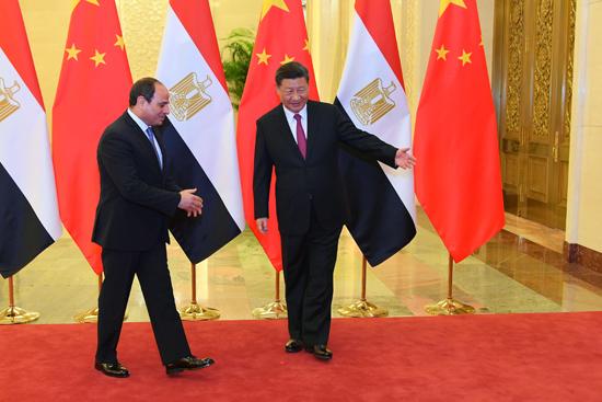 الرئيس عبد الفتاح السيسى والرئيس الصينى (4)