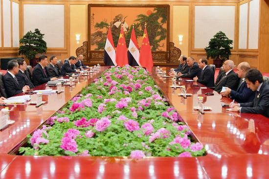 الرئيس عبد الفتاح السيسى والرئيس الصينى (1)