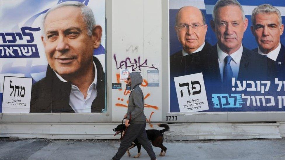 حملات انتخابية إسرائيلية للمتنافسين