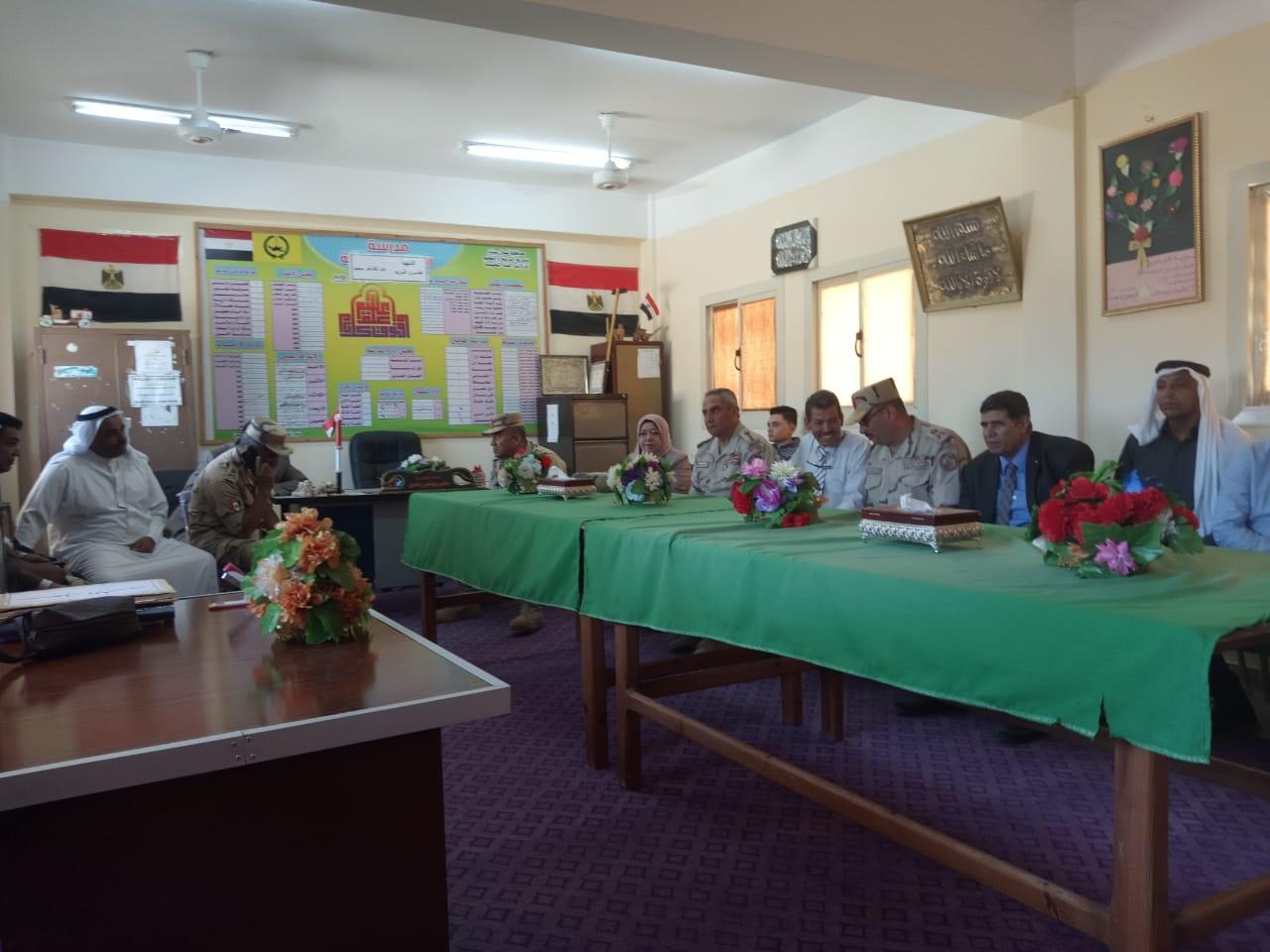 محافظ شمال سيناء يفتتح توسعات مدرسة  الشهيد رائد عمرو فريد بقرية الكرامة (17)