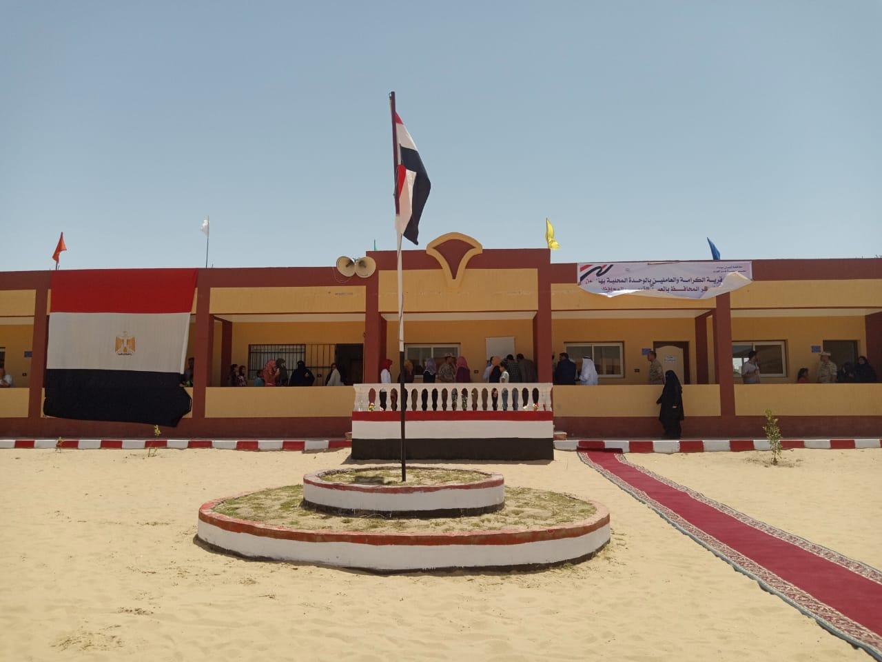 محافظ شمال سيناء يفتتح توسعات مدرسة  الشهيد رائد عمرو فريد بقرية الكرامة (12)