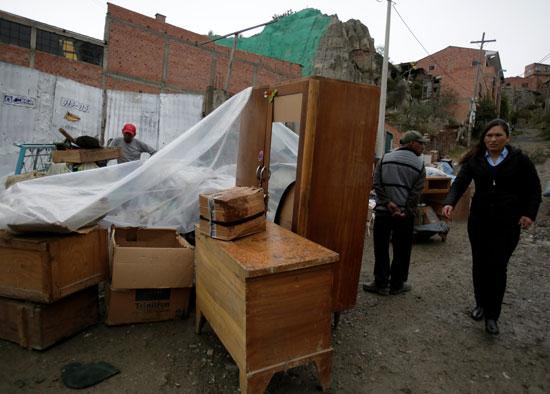 انهيار أرضى فى بوليفيا (4)