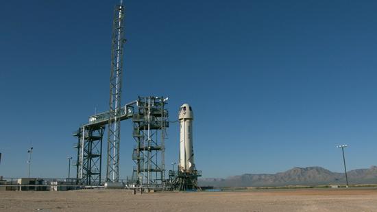 لحظة إطلاق الصاروخ نيو شيبرد  (3)