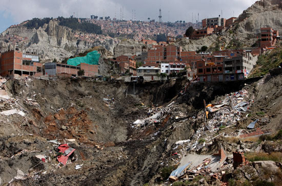 انهيار أرضى فى بوليفيا (6)