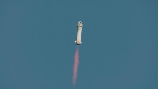 لحظة إطلاق الصاروخ نيو شيبرد  (4)