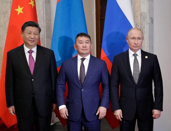 رؤساء روسيا والصين ومنغوليا