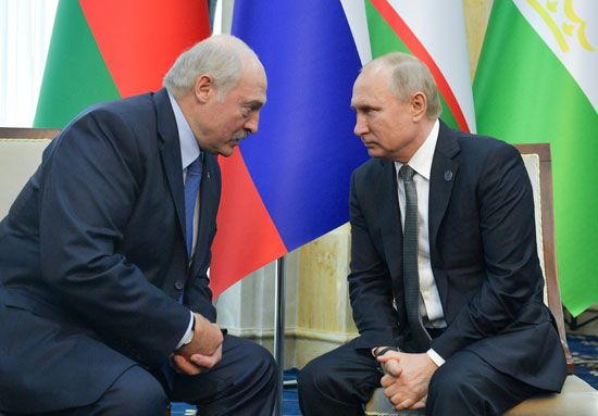لقاء ثنائى بين بوتين والرئيس البيلاروسى ألكسندر لوكاشينكو
