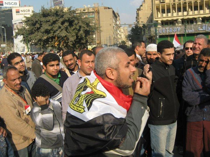 تامر جمال فى مظاهرات 2011