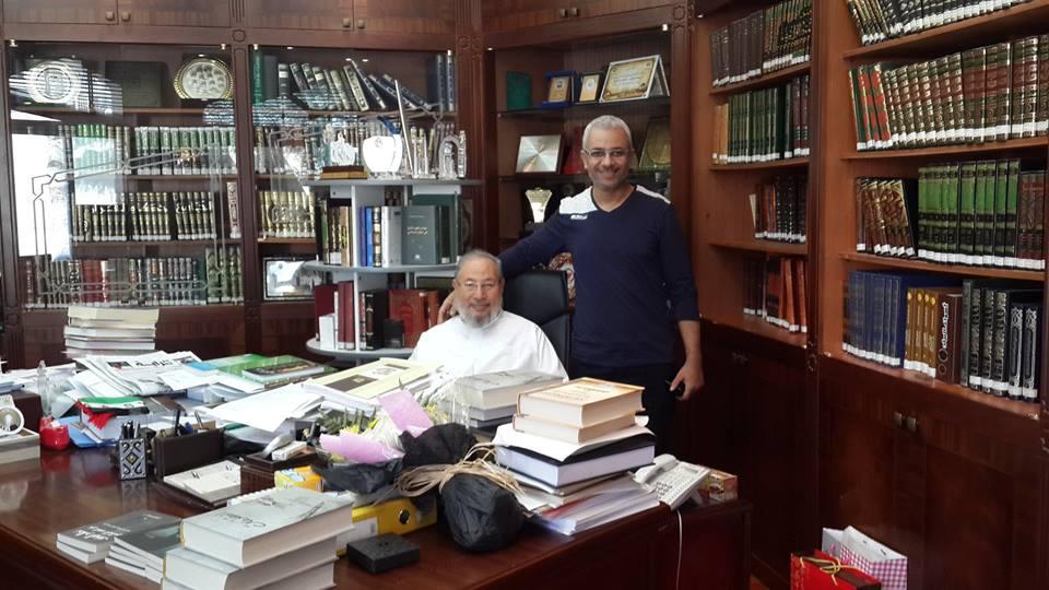 تامرجمال مع يوسف القرضاوى