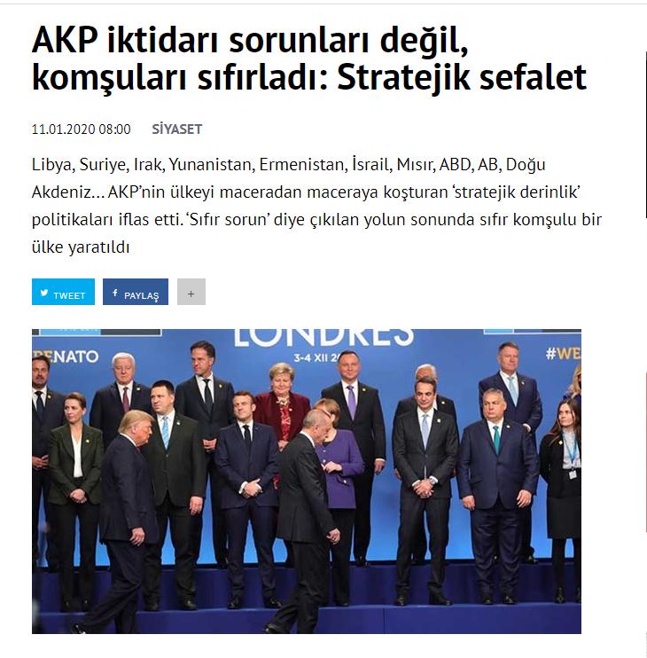 مقال درويش جمال فى الصحيفة التركية