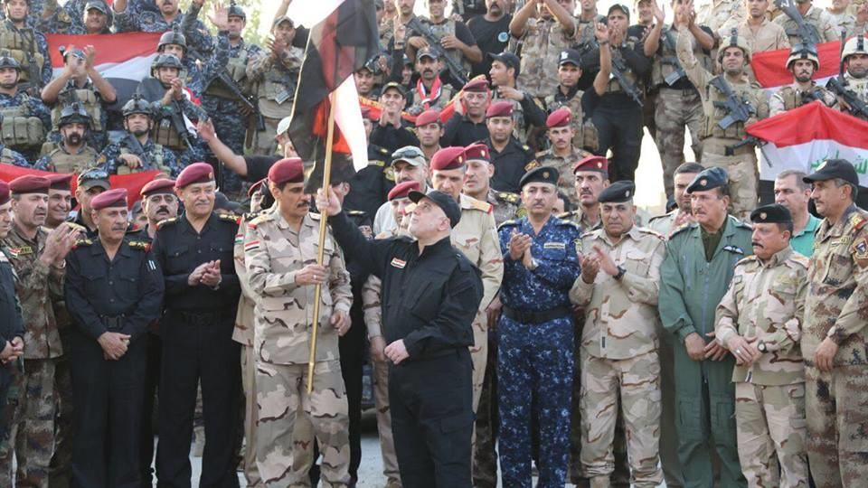 حيدر البغدادي وقت إعلان الانتصار على داعش
