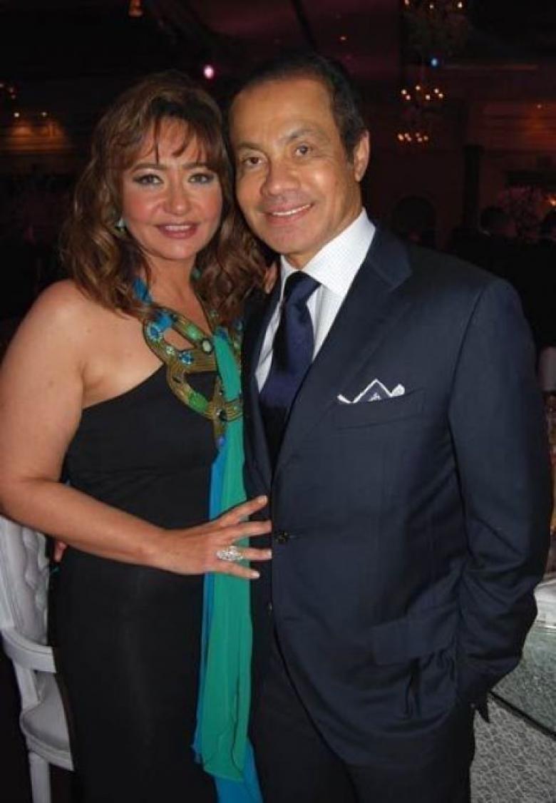 منصور الجمال وزوجته الفنانة ليلى علوي