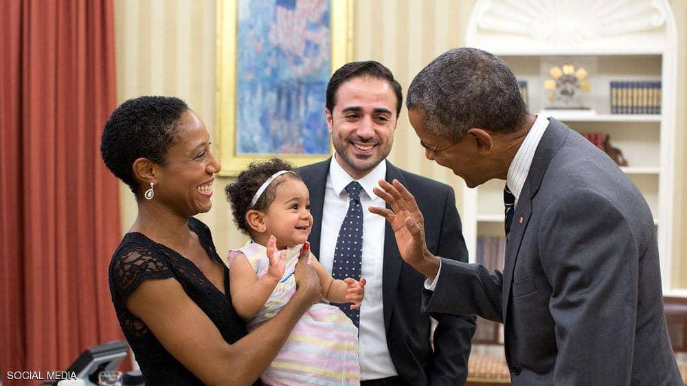 باراك أوباما وعائلة ماهر بيطار