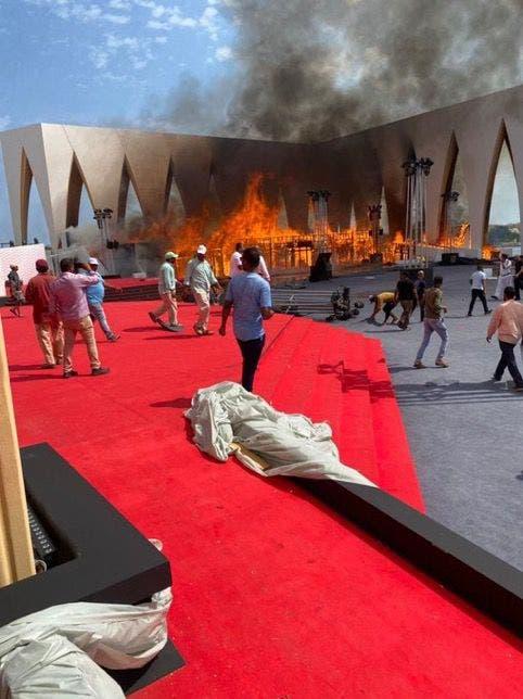 حريق المسرح مهرجان الجونة