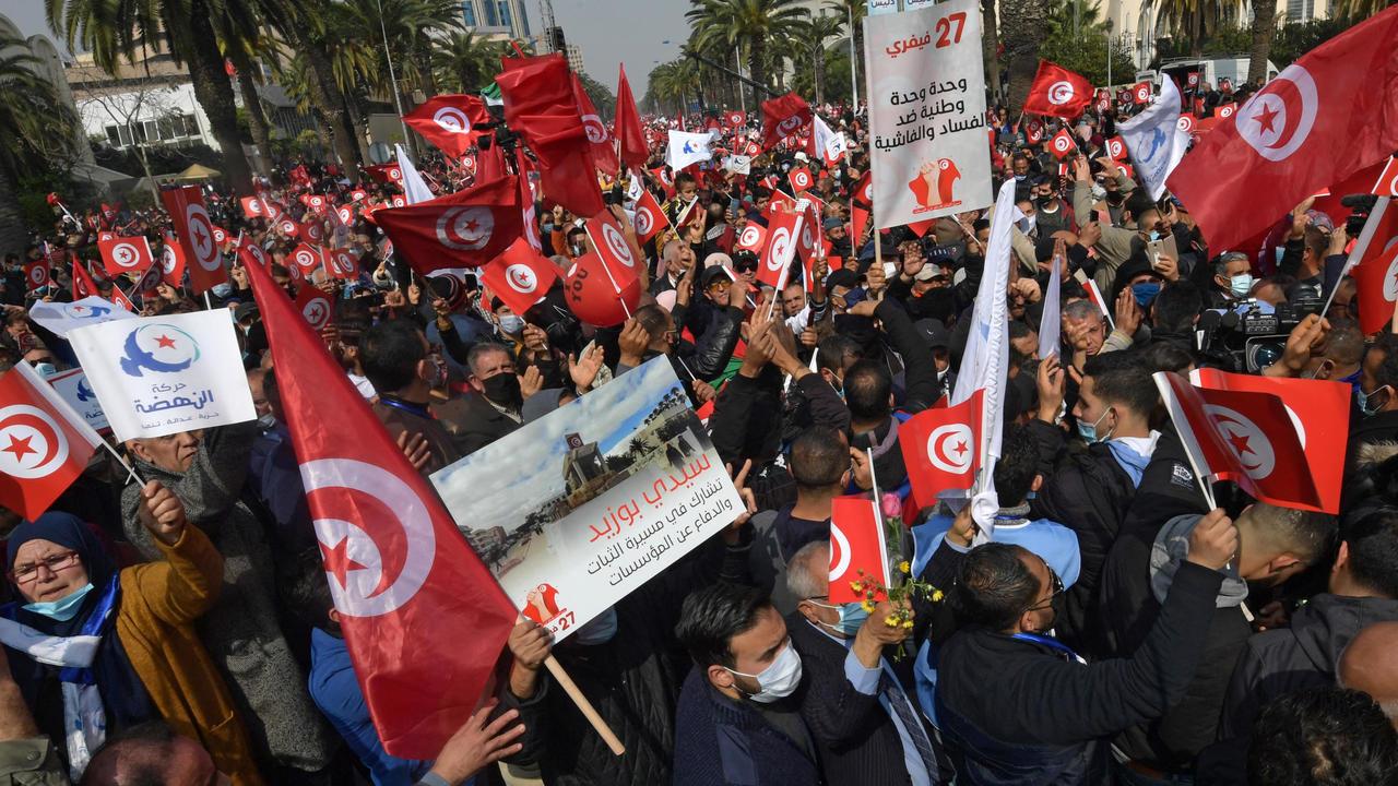 مظاهرات النهضة تونس
