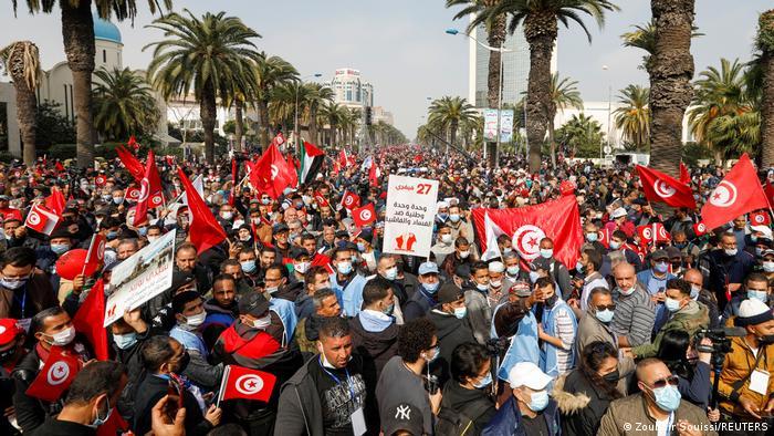 مظاهرات النهضة تونس.