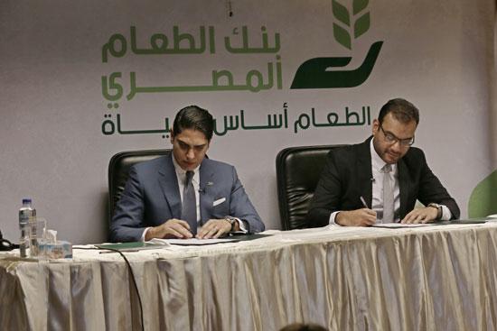 مؤسسة أبو هشيمة الخير وبنك الطعام يوقعان برتوكولا لمساعدة مليون مصرى (5)