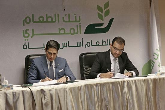 مؤسسة أبو هشيمة الخير وبنك الطعام يوقعان برتوكولا لمساعدة مليون مصرى (6)