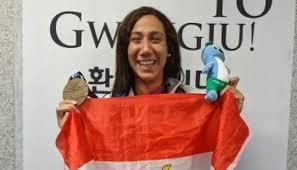 فريدة عثمان السباحة العالمية