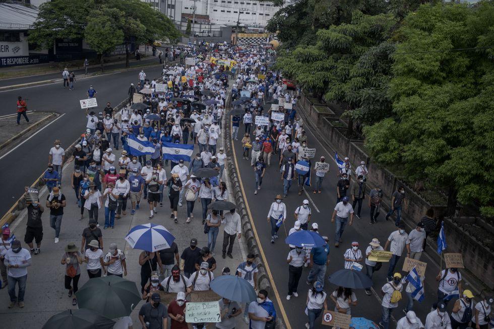 161099-مظاهرات-السلفادور