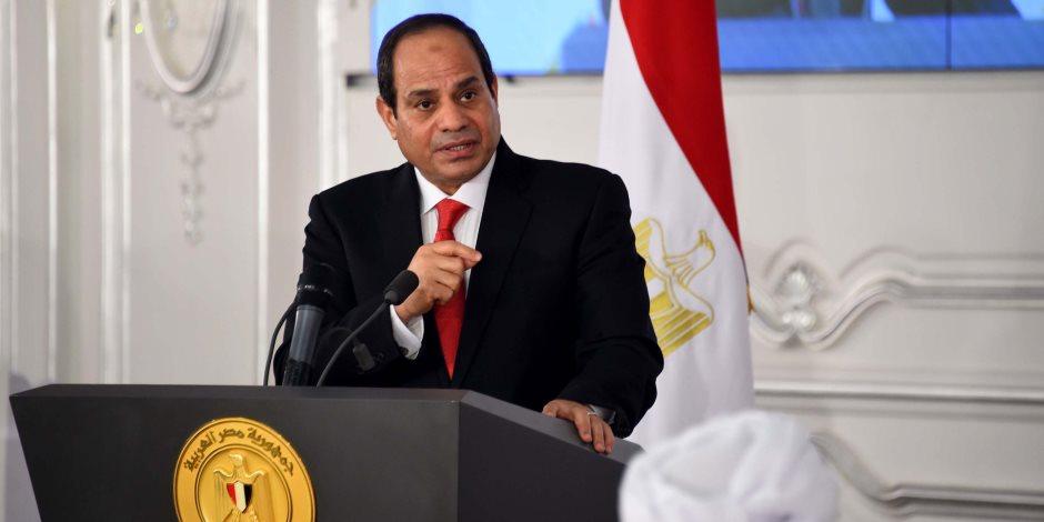 السيسي: المصري لا ينسى ثأرا ولا يرضخ لهزيمة ولا يقبل استسلاما