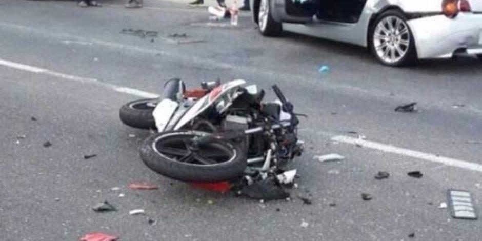 مصرع طفل دهسته دراجة نارية في المنوفية
