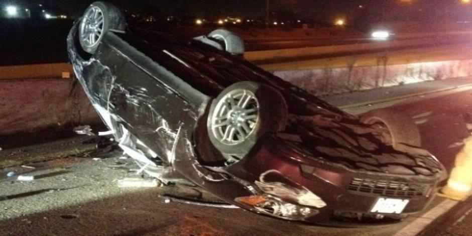 مصرع شخص وإصابة آخر فى حادث انقلاب سيارة بالوادى الجديد