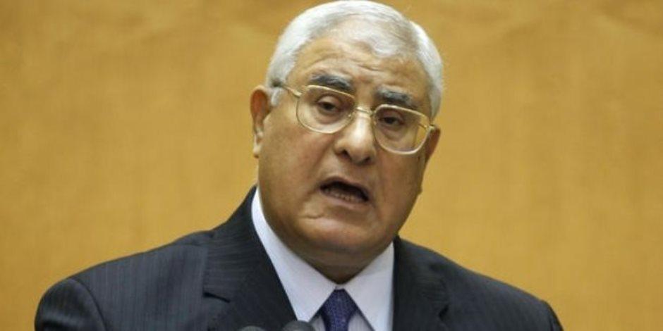 عدلى منصور: كان لا بد من ثورة 30 يونيو لتصحيح الوضع بعد اختطاف الإخوان للبلد