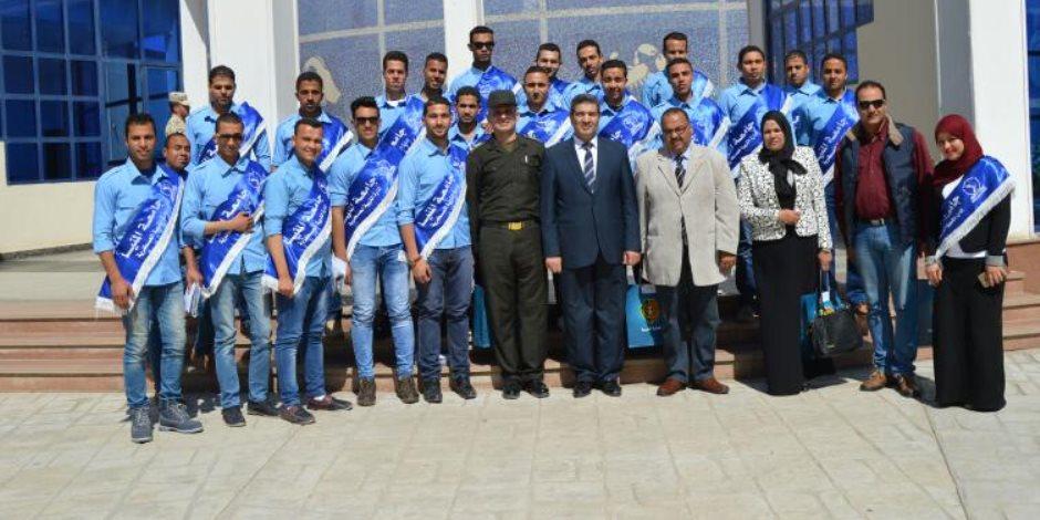 طلاب جامعة المنيا في زيارة إلى الكلية الحربية