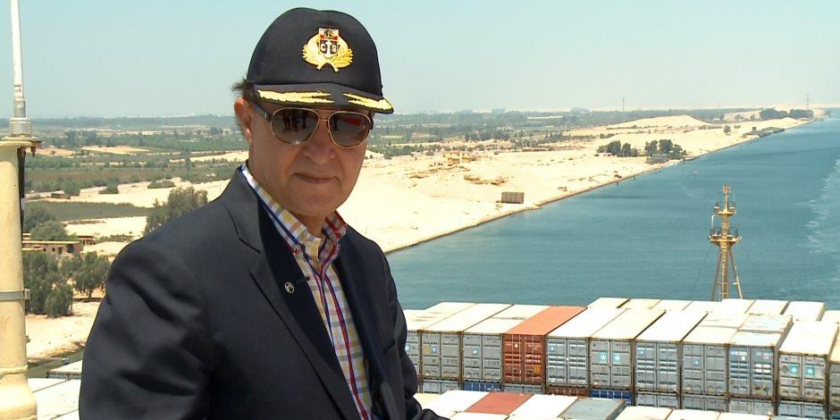 مهاب مميش: عبور 46  سفينة بحمولة 2.5  مليون طن