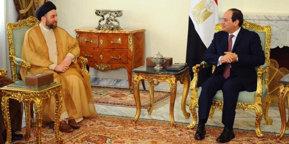 المتحدث الرسمي باسم رئاسة الجمهورية: «السيسي» استقبل رئيس التحالف الوطني العراقي