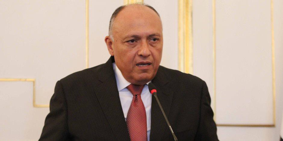 سامح شكري يعقد اليوم جلسة مباحثات مع المبعوث الأممي إلى ليبيا بمقر «الخارجية»