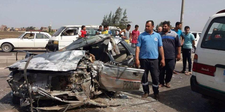 مصدر أمني: السرعة الزائدة من سائق اﻷتوبيس وراء حادث الطريق الصحراوي